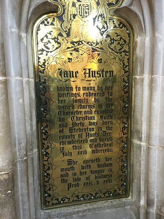 Jane Austen Brass Plaque Winchester Cathedral